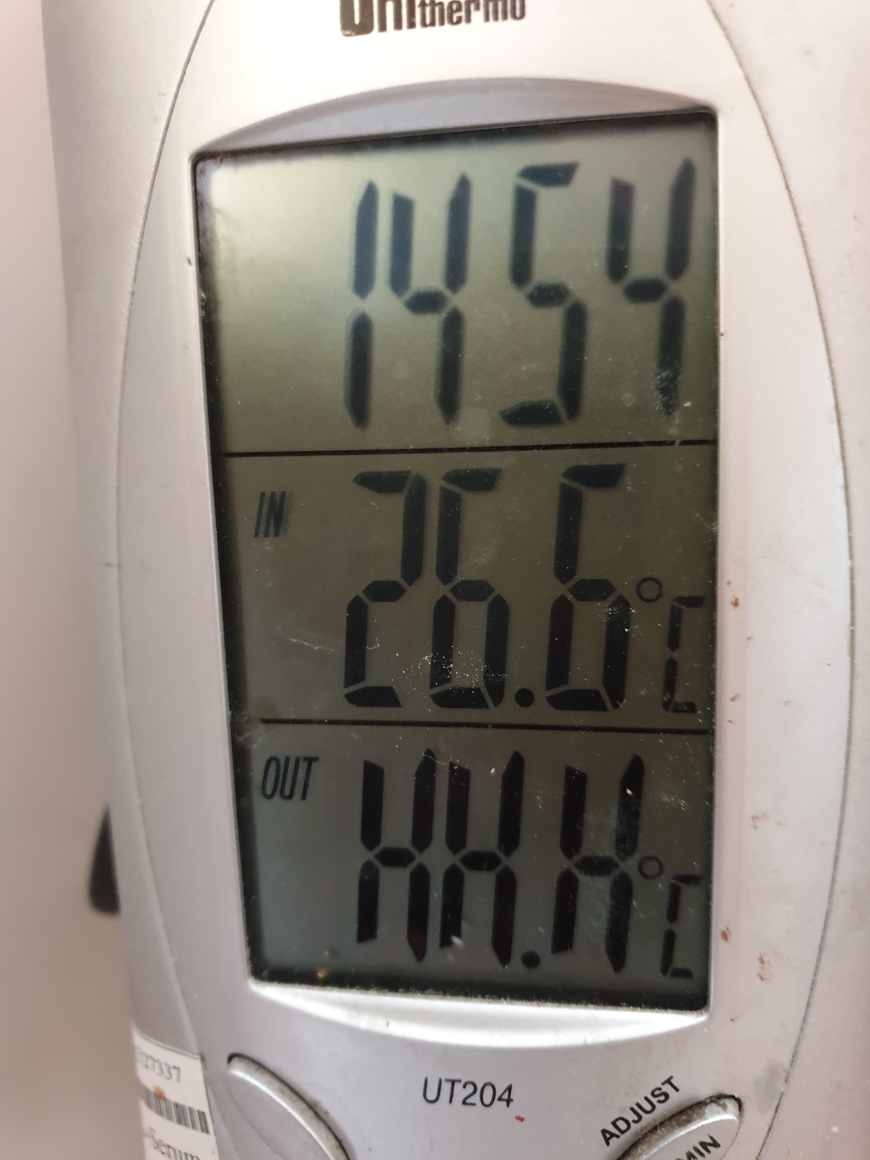 termometr przegrzanie